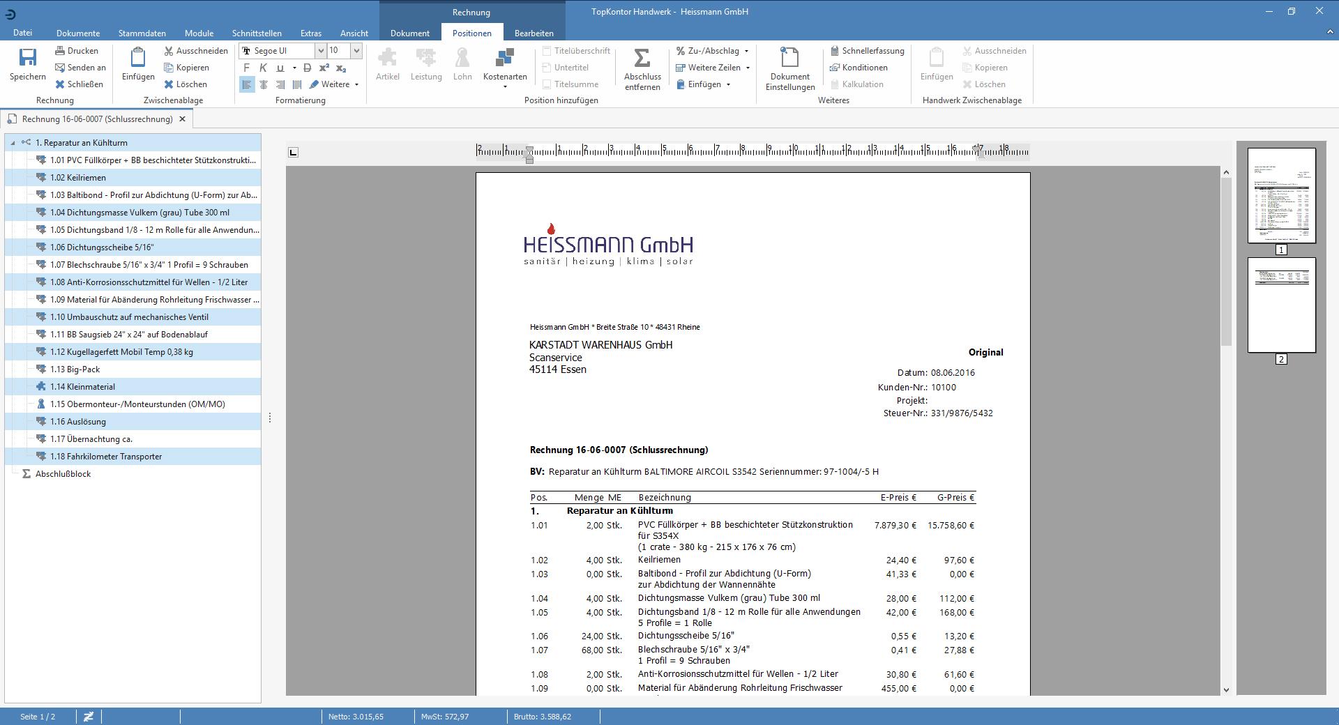 TopKontor Handwerk V6 - Rechnung